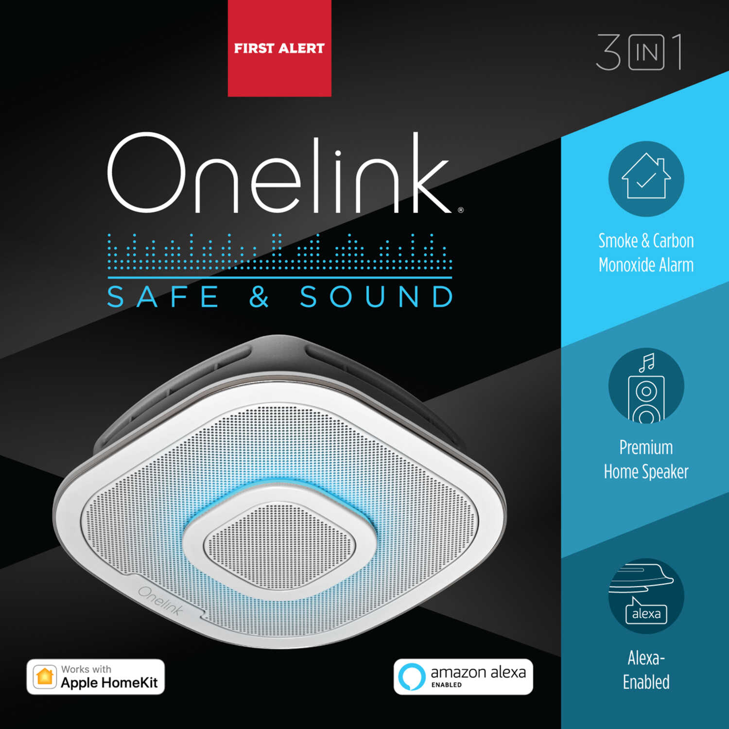 First Alert  ONELINK  Hard-Wired w/Battery Back-up  Electrochemical/Photoelectric  Connected Home Sm