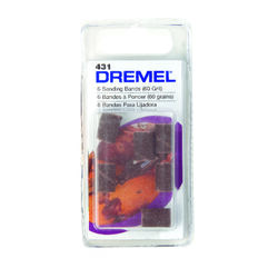 Dremel  0.3 in. Dia. x 1/4 in. L Emery  Drum Sander Bands  60 Grit Coarse  6 pk