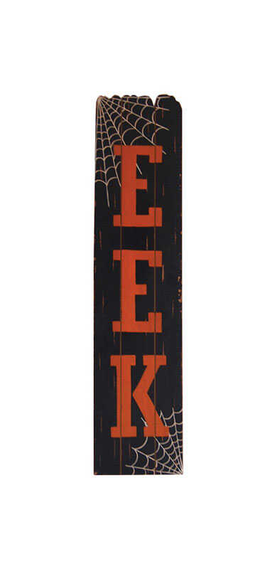 Celebrations  Eek Standing Wood Decor  Halloween Decoration  .47 in. W x 9-7/8 in. L x 42.13 in. H 1
