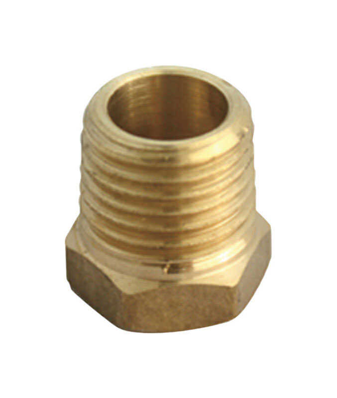 Ace  3/4 in. Male   x 1/2 in. Dia. FPT  Yellow Brass  Hex Bushing