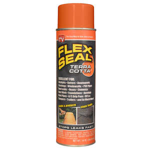 Flex Seal  As Seen On TV  Satin  Terra Cotta  Rubber Spray Sealant  14 oz.