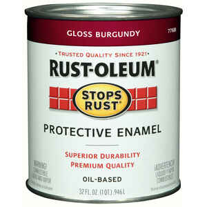 Rust-Oleum  Burgundy  Protective Enamel  Indoor and Outdoor  1 qt.