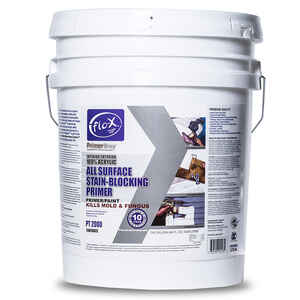 Flo-X  Primertime  Smooth  Clear  Water-Based  Stain Blocking Primer  For Drywall 5 gal.