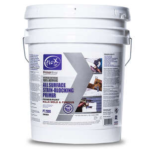Flo-X  Primertime  Smooth  Water-Based  Clear  Stain Blocking Primer  For Drywall 5 gal.