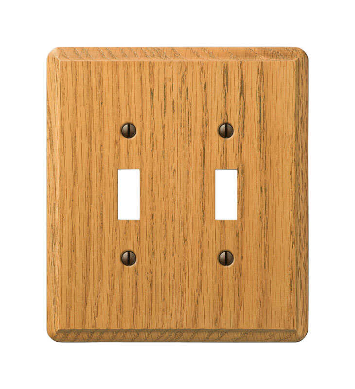 Amerelle  Contemporary  2 gang Wood  Wall Plate  1 pk Toggle
