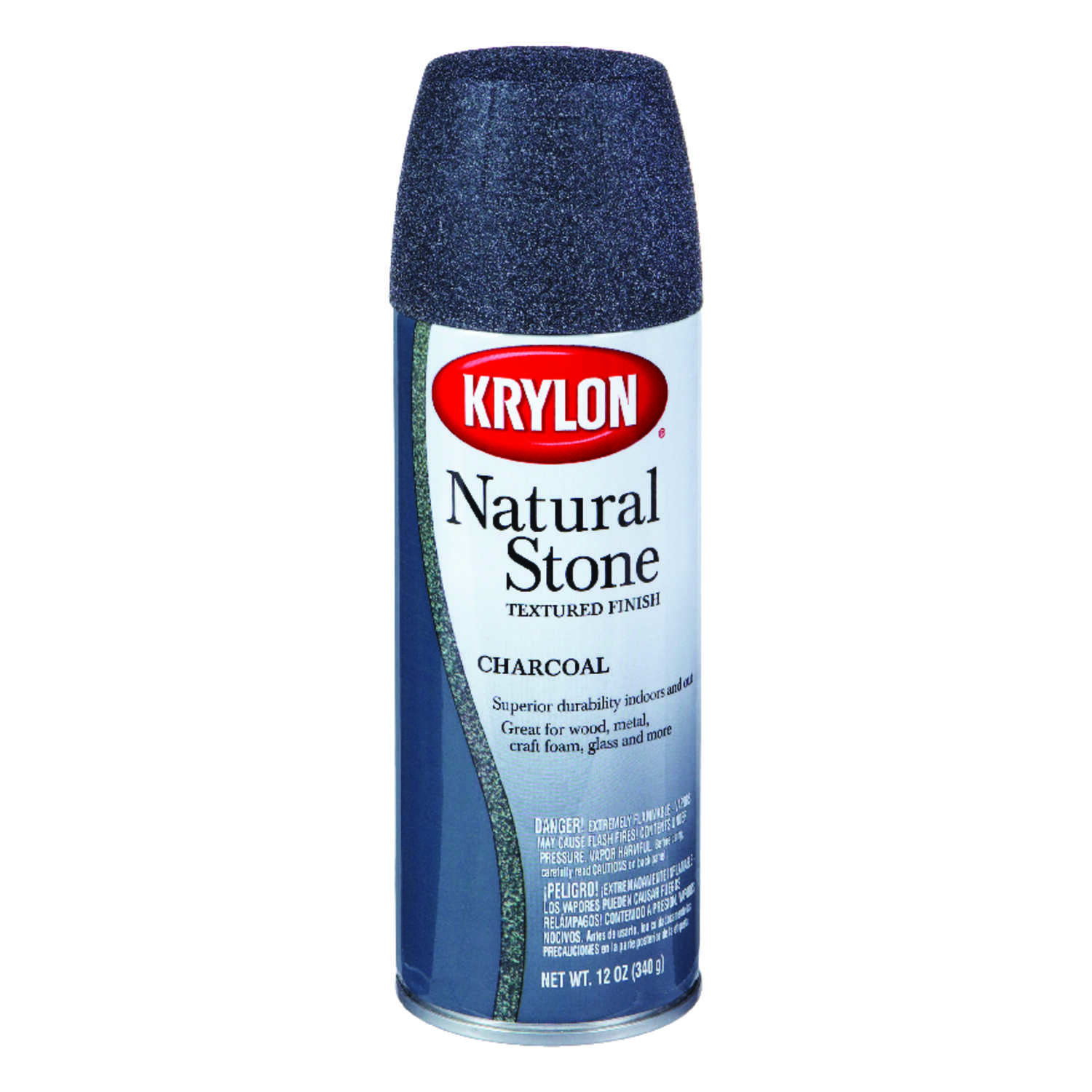Krylon  Textured  Charcoal  Natural Stone Spray Paint  12 oz.