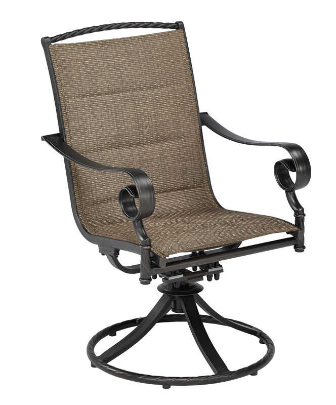 Living Accents  Brown  Aluminum  Cayman  Swivel Chair