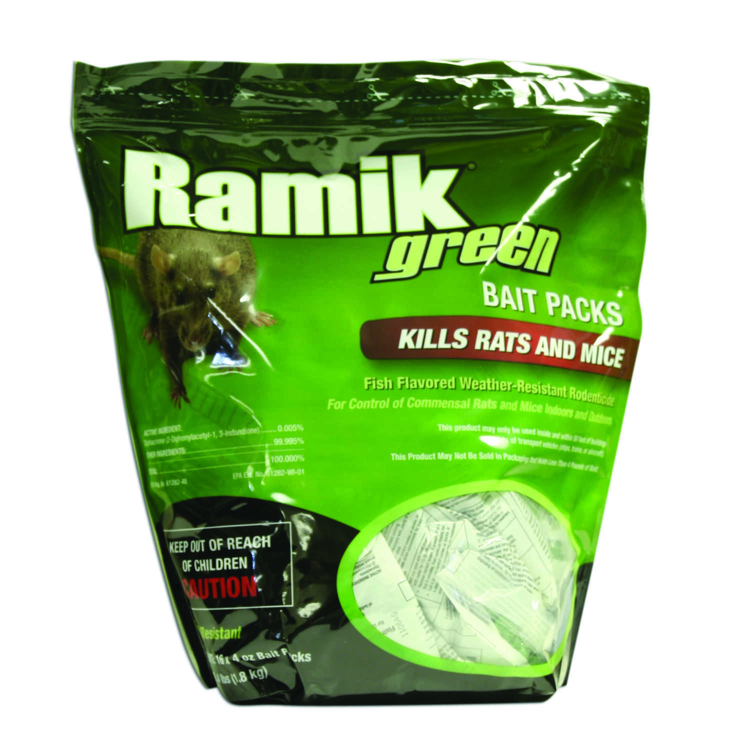 Ramik  Small  Bait Pellet Place Packs  For Mice/Rats 16 pk