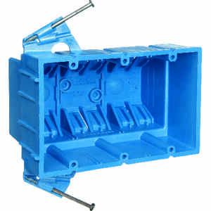 Carlon  Super Blue  Rectangle  Thermoplastic  3 gang 5-7/8 in. Blue  Outlet Box