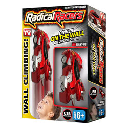 Radical Racers  As Seen On TV  Remote Controlled Car  Red  3 pc.
