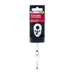 Ace  Locking  1/4 in. drive Chrome  Quick-Release Ratchet  1 pc.