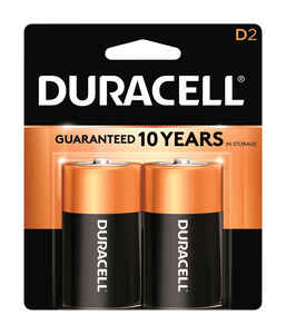 Duracell  Coppertop  D  Alkaline  Batteries  2 pk Carded