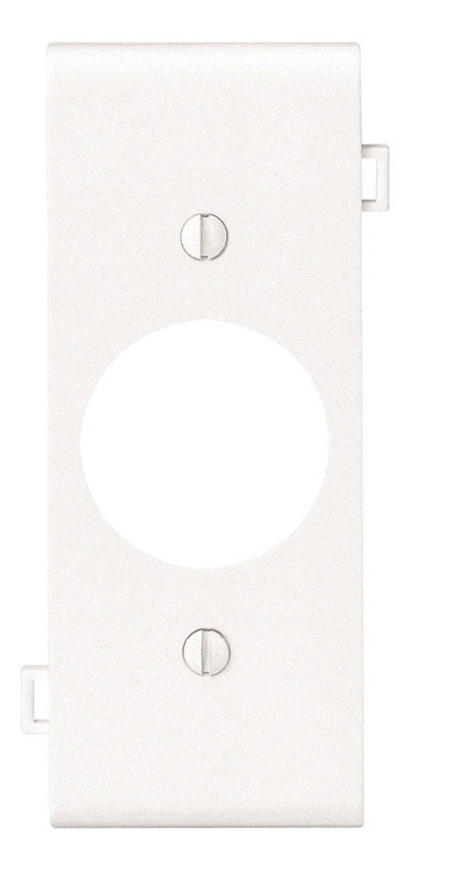Leviton  Center Section  White  1 gang Nylon  Wall Plate  1 pk Receptacle