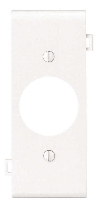 Leviton  Center Section  White  1 gang Nylon  Receptacle  Wall Plate  1 pk