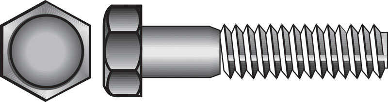 Hillman  1/4-20 in. Dia. x 3/4 in. L Stainless Steel  Hex Head Cap Screw  100 pk