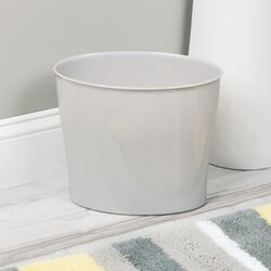 InterDesign  Nuvo  Gray  Oval  Wastebasket