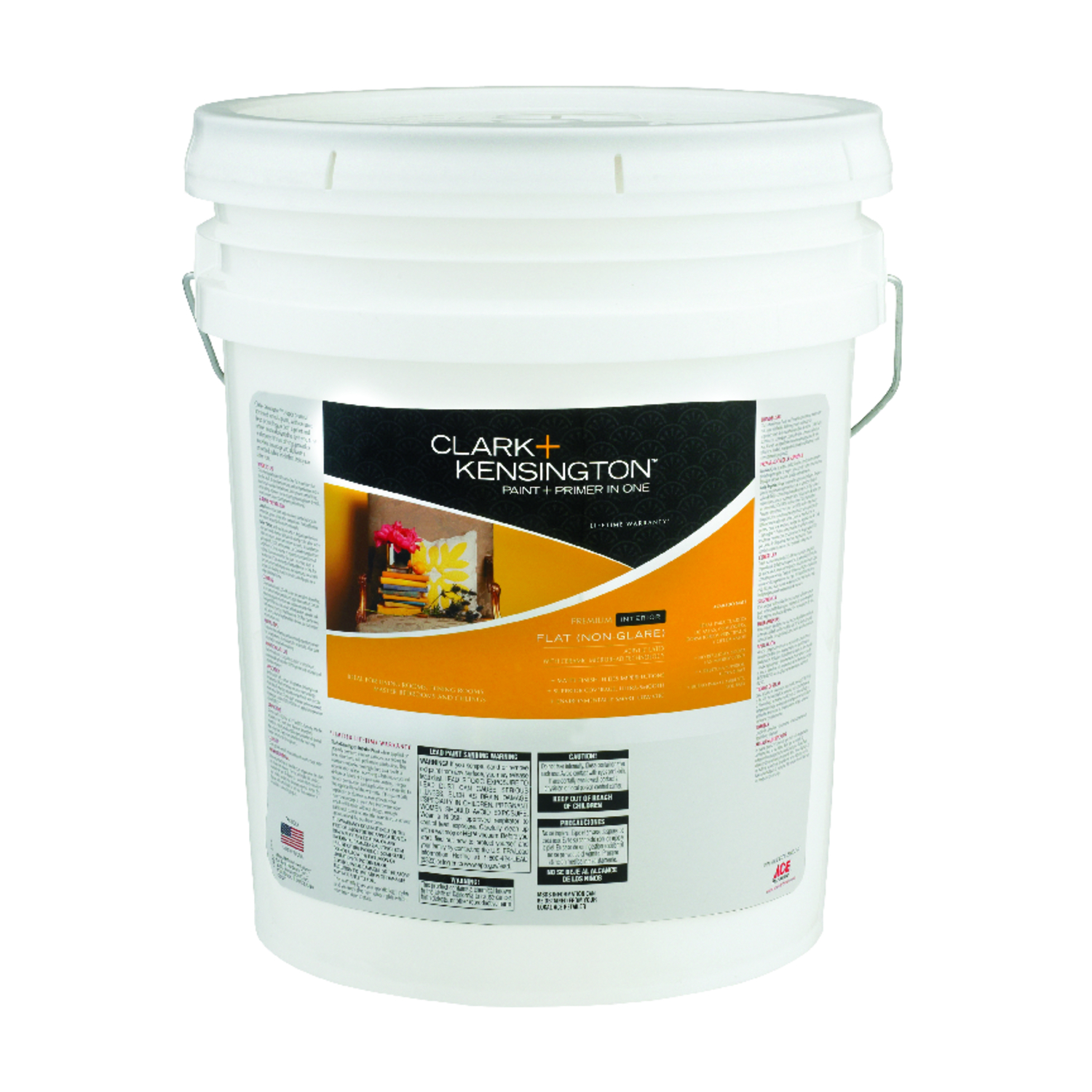 Clark+Kensington  Flat  Neutral Base  Acylic Latex  Paint and Primer  5 gal.