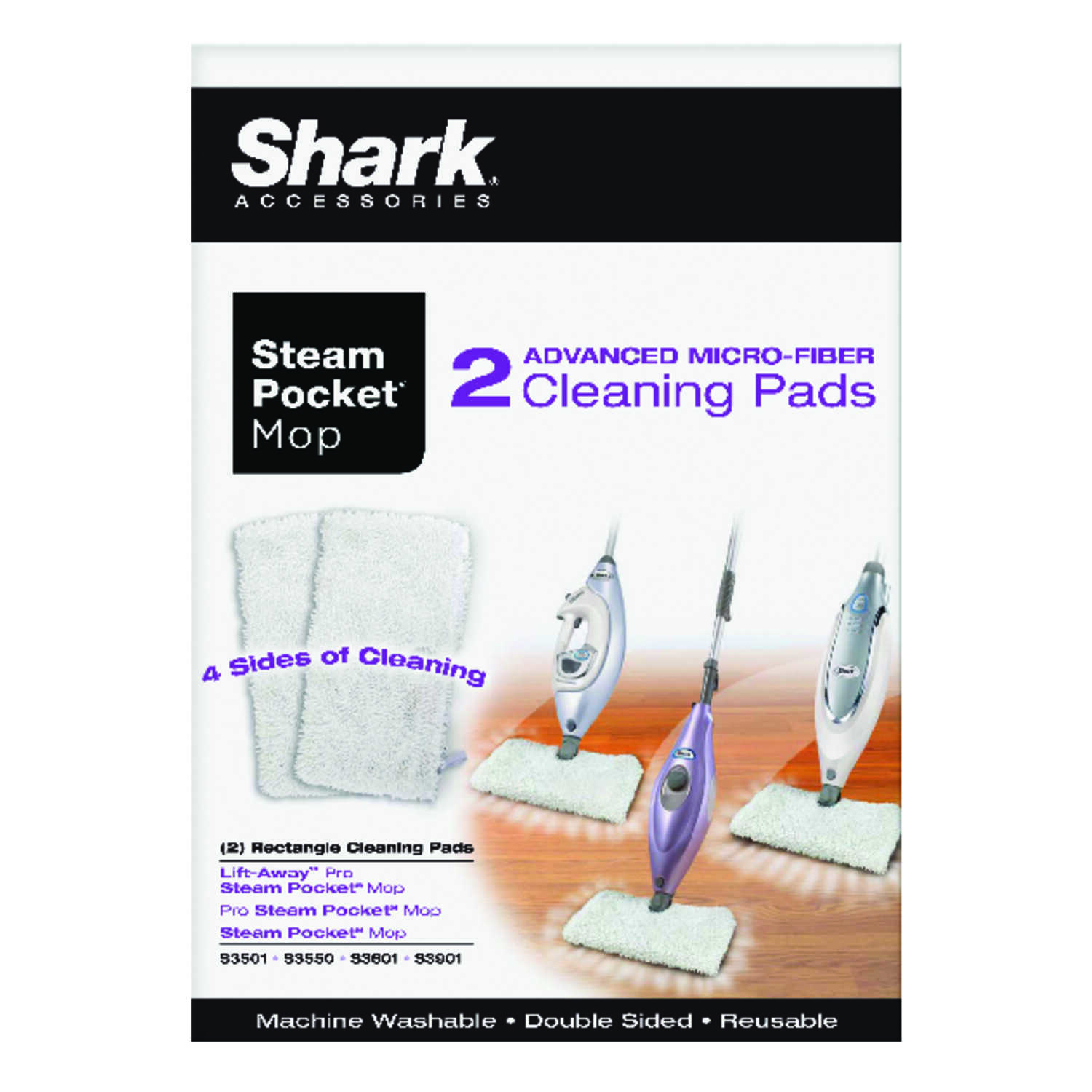 Shark  Cleaning Pads  For Works with S3501-3601 steam mop 1 pk