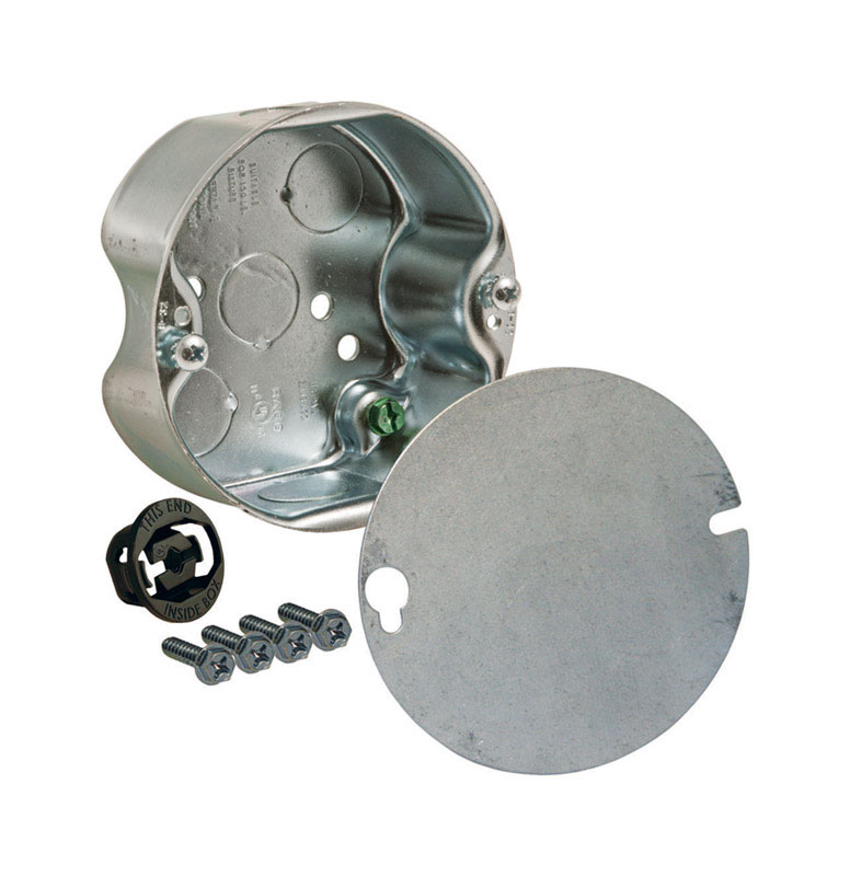 Raco  Round  Steel  Fan Box  Gray  4-1/4 in. 1 Gang