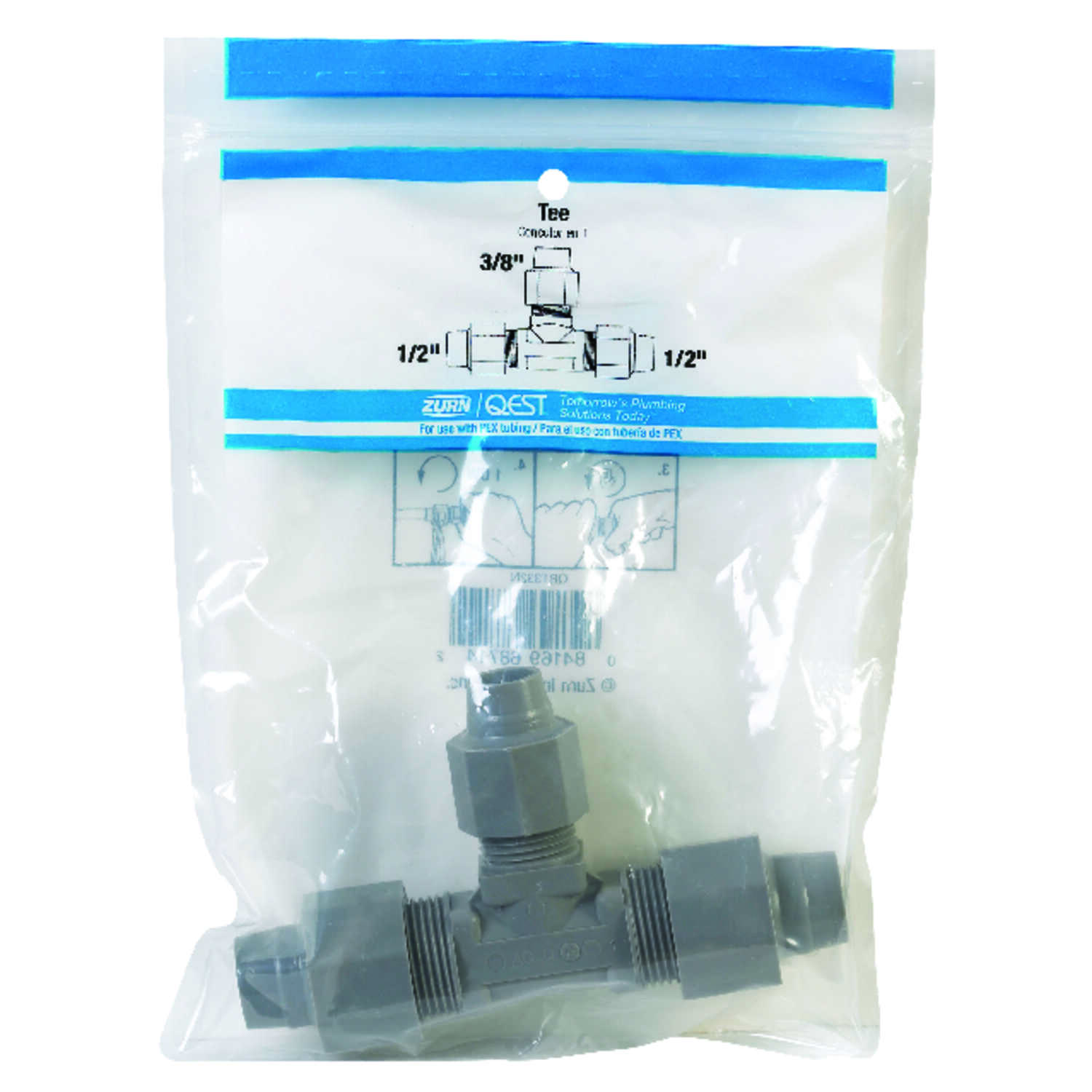 Zurn  1/2 in. CTS   x 1/2 in. Dia. CTS  Tee  Polybutylene