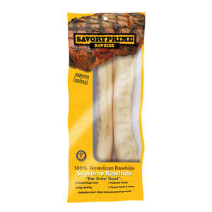 Savory Prime  All Size Dogs  Adult  Rawhide Bone  NA  10 in. L 2 pk