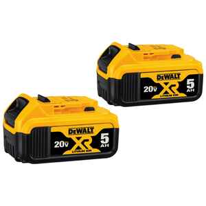 DeWalt  20V MAX XR  20 volt 5 Ah Lithium-Ion  Battery Combo Pack  2 pc.