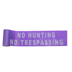 C.H. Hanson  100 ft. L x 6 in. W Plastic  No Hunting No Trespassing  Barricade Tape  Purple