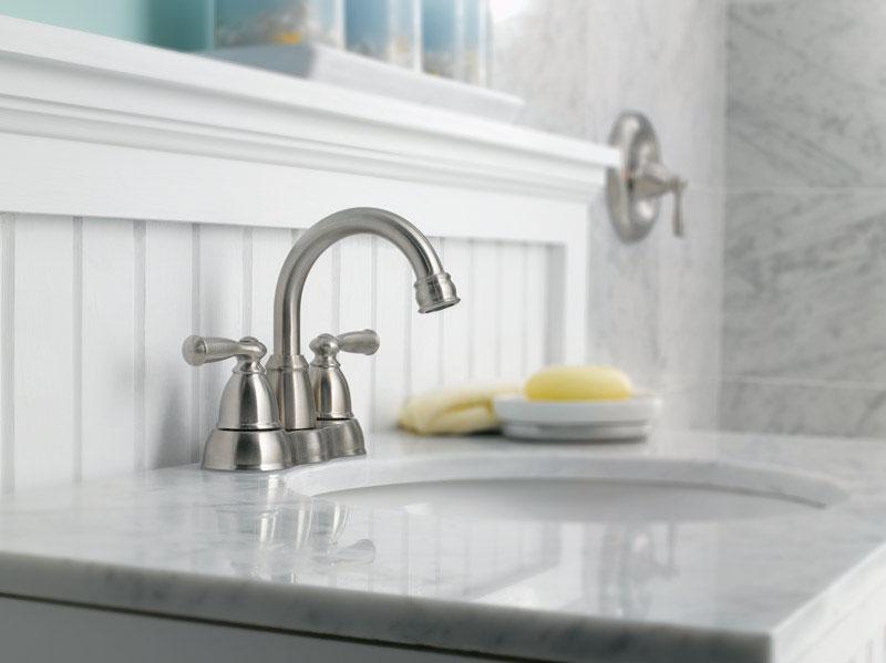 Moen Banbury Two Handle Lavatory Faucet 4 In. Brushed Nickel