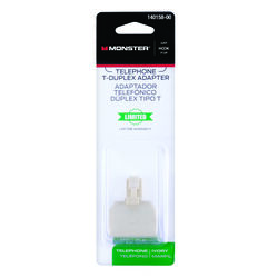 Monster Cable  Just Hook It Up  0 ft. L Ivory  Mondular Telephone Line Cable