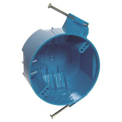 Carlon  2-1/4 in. Round  Polycarbonate  Electrical Box  Blue