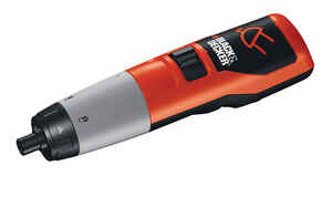 Black and Decker  Cordless  Rechargeable Screwdriver  Kit 1/4 in. 150 rpm 1 pc. 2.4 volt