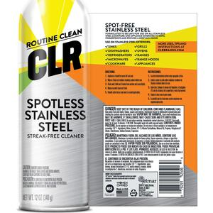 CLR  Fresh Clean Scent Stainless Steel Cleaner  12 ounce  Spray