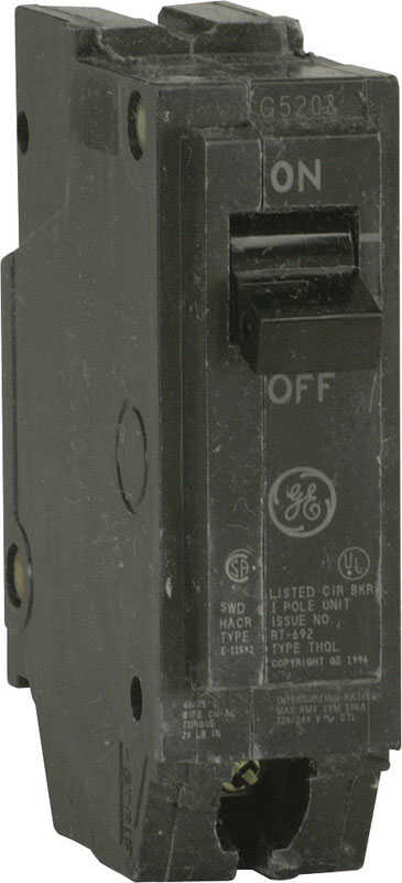 GE  Q-Line  15 amps Standard  Single Pole  Circuit Breaker