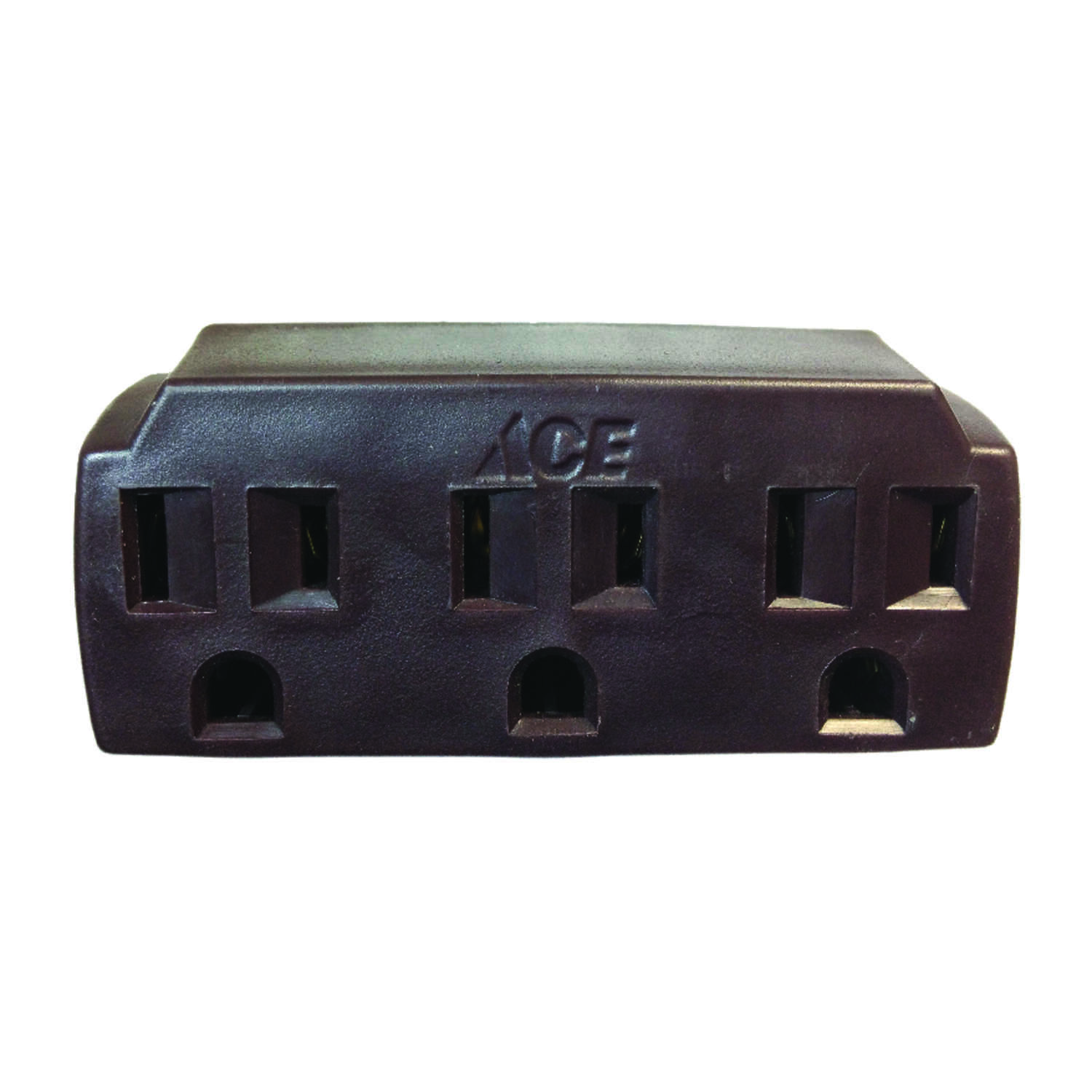 Ace  Grounded  3 outlets Triple Outlet Adapter  1 pk