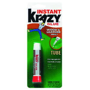 Instant Krazy Glue  White  Wood and Leather  2