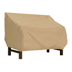 Classic Accessories  31 in. H x 32 in. W x 87 in. L Brown  Polyester  Loveseat Cover