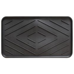 Multy Home 14 in. L x 25 in. W Black Indoor and Outdoor PVC Boot/Shoe Mat