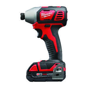 Milwaukee Cordless Impact Driver M18 18 volts  1,500 in-lb 2,750 rpm 3,350 ipm Hex Lithium Ion Varia