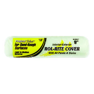 Project Select  Rol-Rite  Polyester  1/2 in.  x 9 in. W Regular  Paint Roller Cover  For Semi-Rough