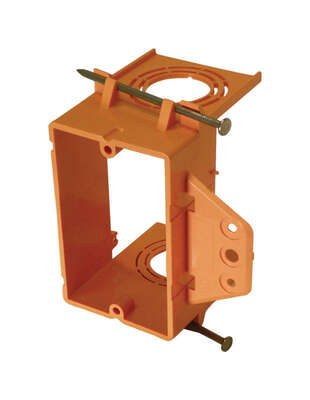 Cantex  3-3/4 in. Rectangle  PVC  1 gang Junction Box  Orange