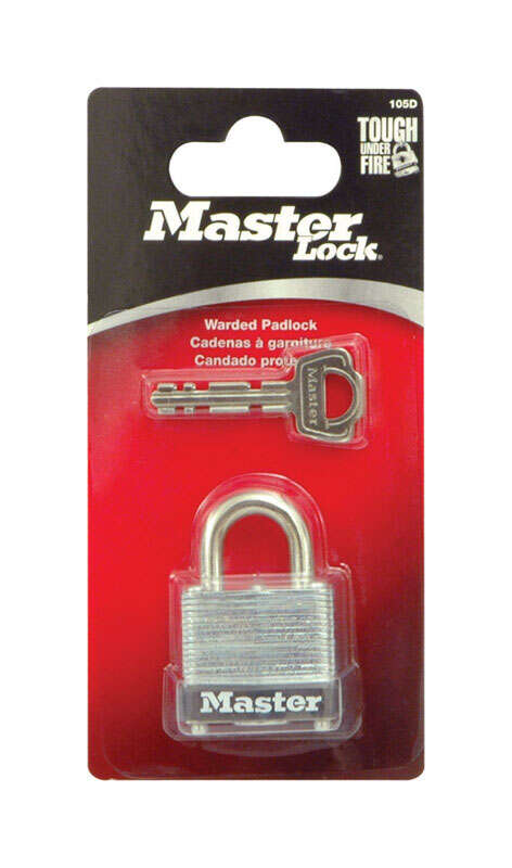 Master Lock  1-1/16 in. H x 3/4 in. W Warded Locking  Laminated Steel  1 each Padlock