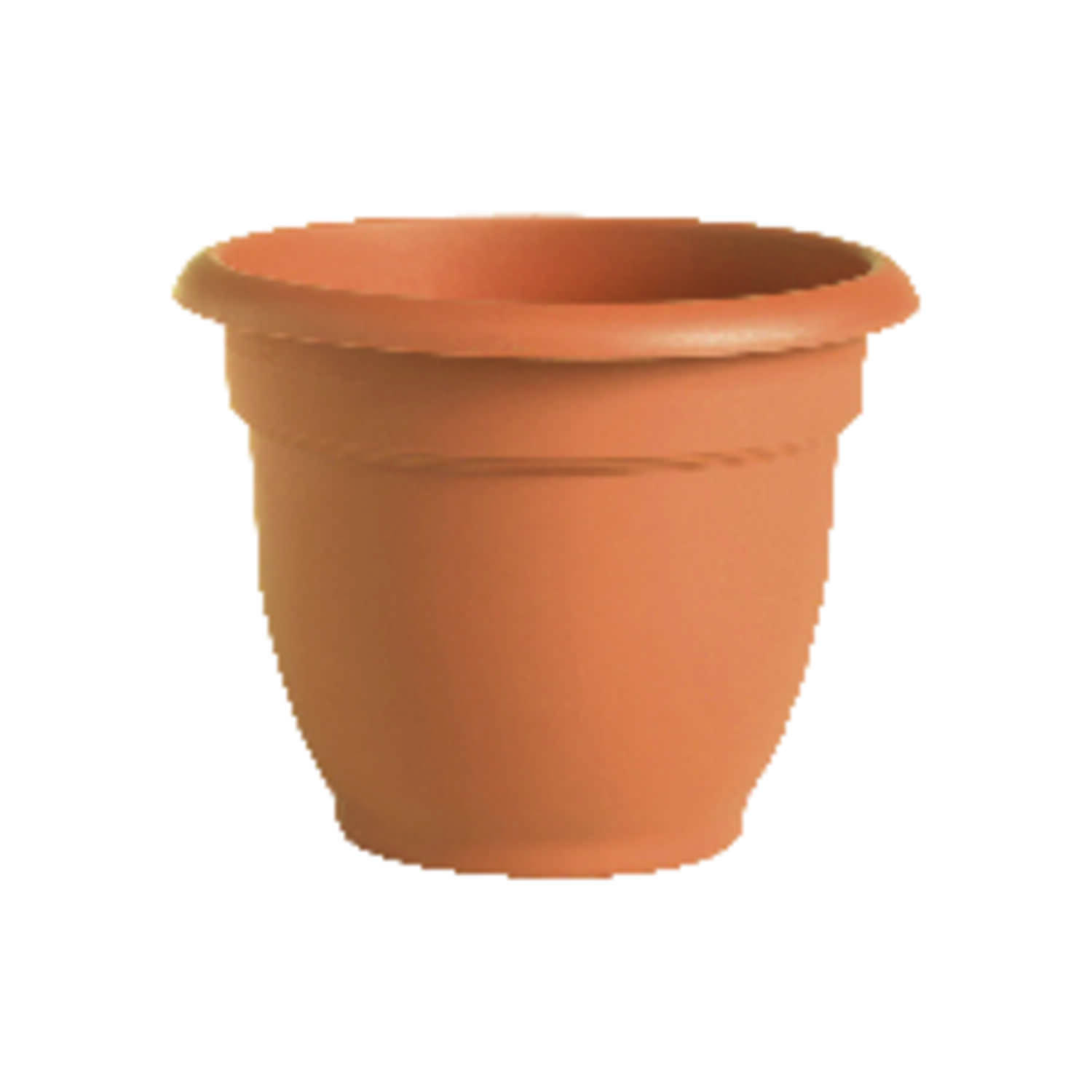 Bloem  8 in. Dia. Terracotta Clay  Resin  Ariana  Planter