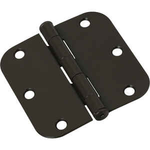 National Hardware  3 in. L Oil Rubbed Bronze  Steel  Door Hinge  1 pk