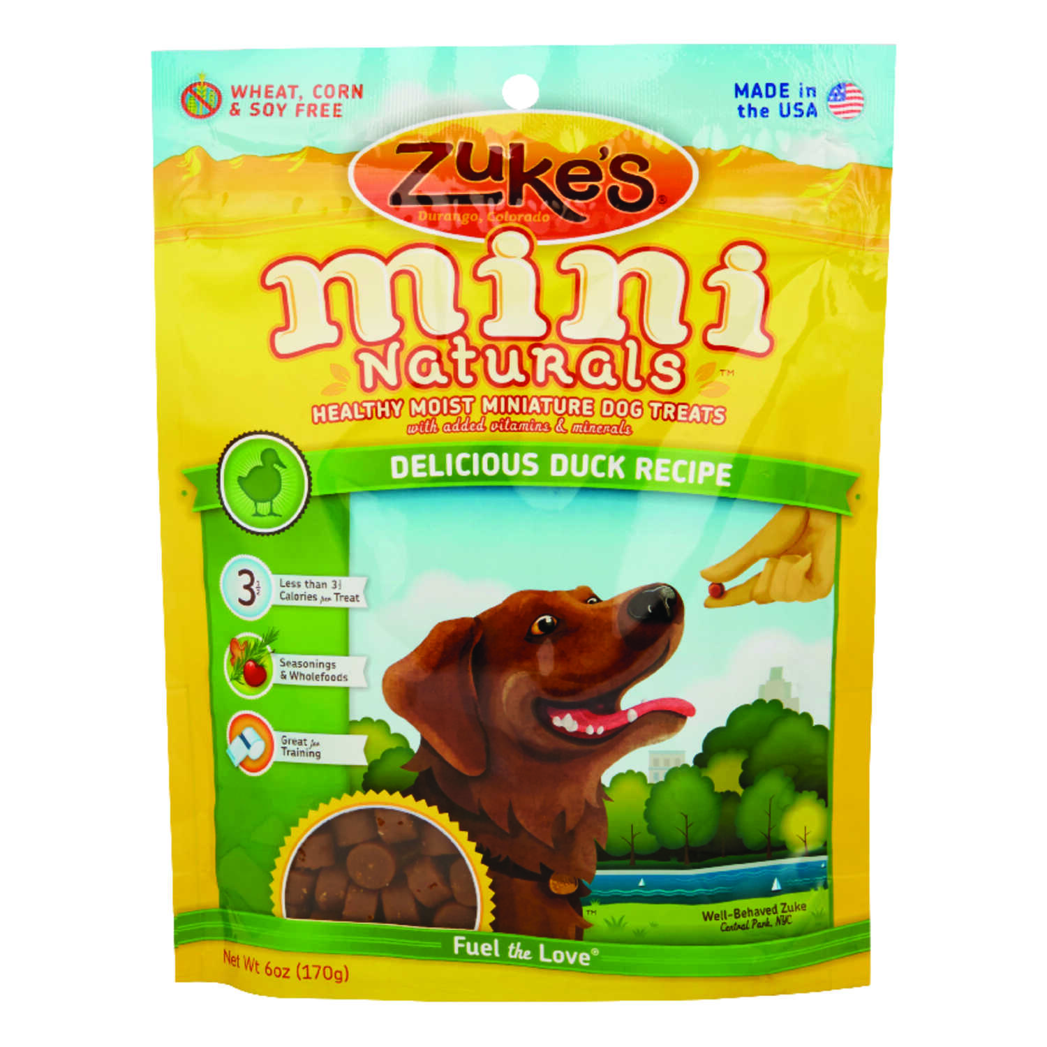 Zuke's  All Natural Mini  Duck  Treats  For Dog 6.3 in. 1 pk