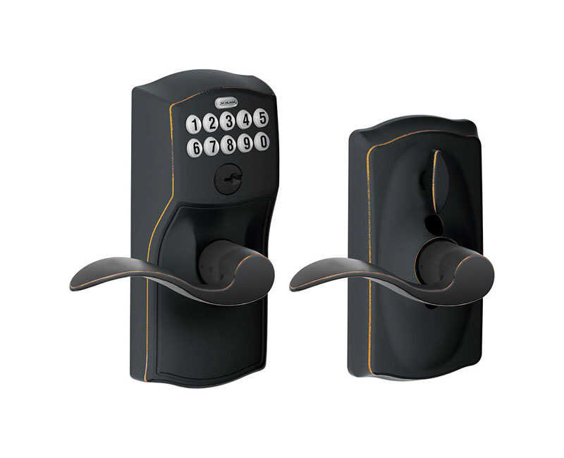 Schlage  Aged Bronze  Steel  Electronic Keypad Entry Lock