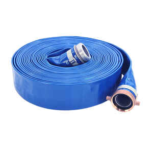 Abbott Rubber  Discharge Hose  1-1/2 in. Dia. x 1 5/8 in. Dia. x 50 ft. L PVC