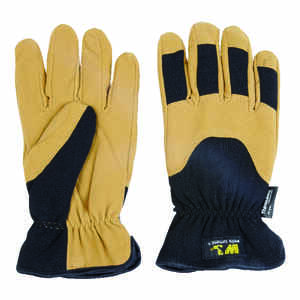Wells Lamont  L  Synthetic Leather  Winter  Black  Gloves
