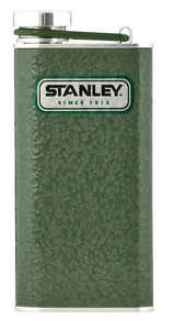 Stanley  8 oz. Green  Flask  Stainless Steel