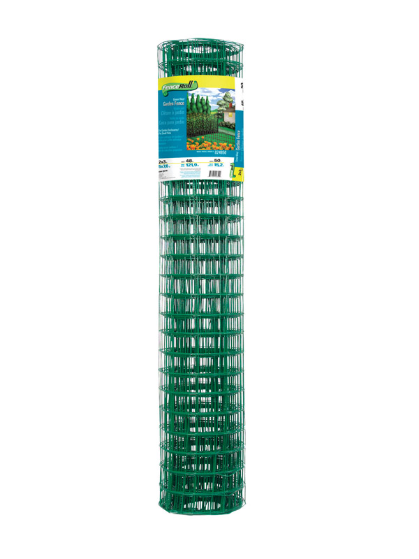 Garden Zone Garden Fence 48 in. x 50 ft. Plastic 2 in. x 3 in. 16 Ga Green Bulk 48 in. 50 ft.