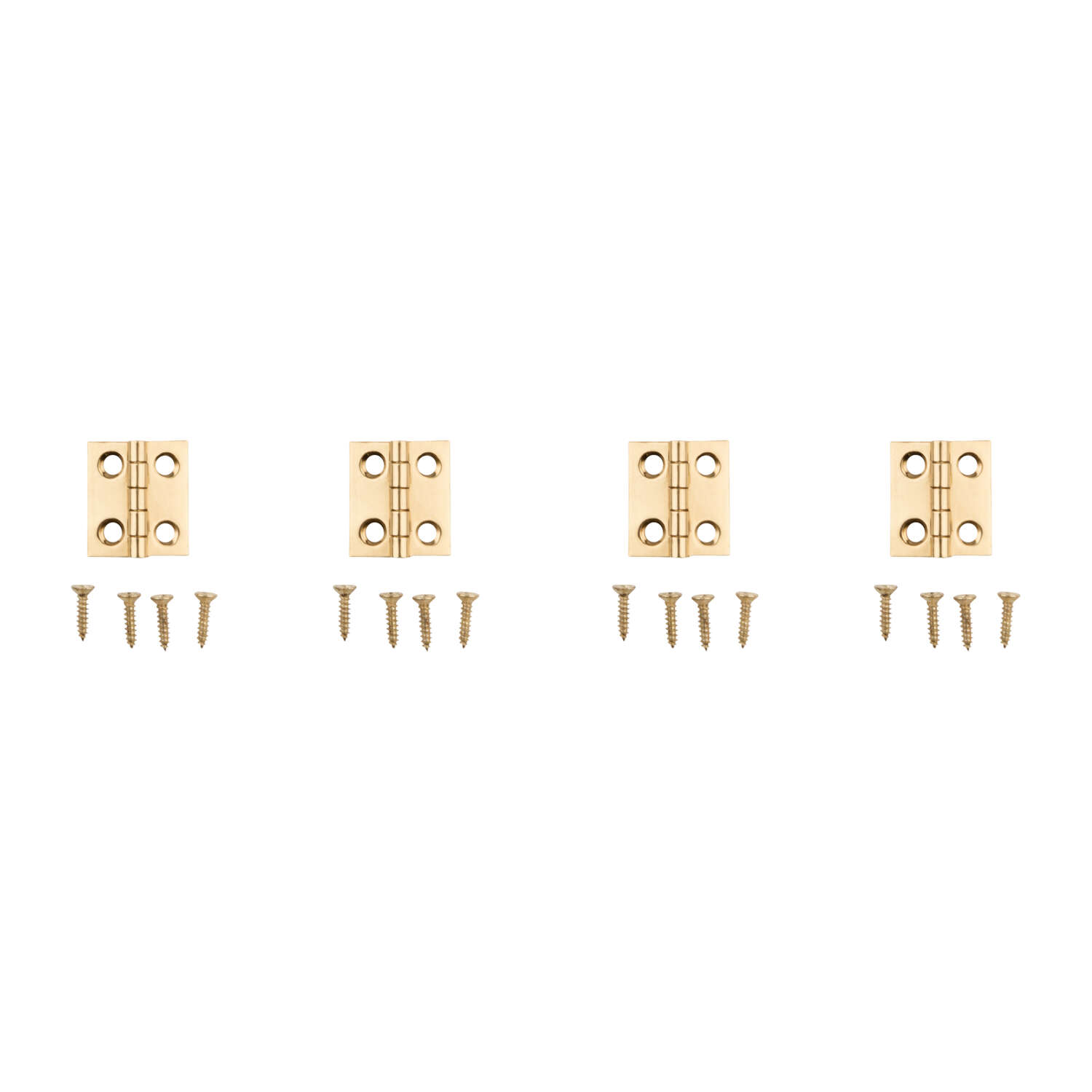 National Hardware 3/4 in. L Brass-Plated Door Hinge 4 pk